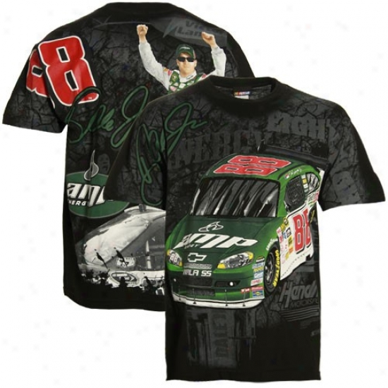 Dale Earnhardt Jr. Shirts : Vale Earnhardt Jr. Black Oversize Shirts