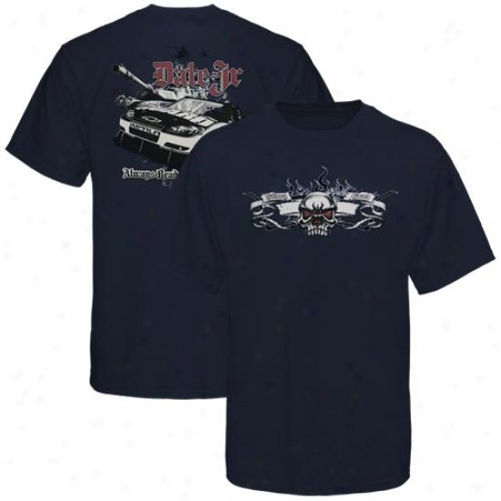 Dale Earnhardt Jr. T Shirt : #88 Dale Earnhardt Jr. Navy Blue Gothic T Shirt