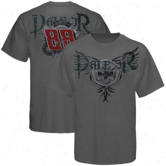 Dale Earnhardt Jr. T Shirt : Dale Earnhardt Jr. Charcoal Demon Of Th3 Track T Shirt