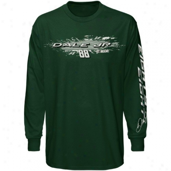Dale Earnhardt Jr. T-shirt : Dale Earnhardt Jr. Youth Unripe Speed Warrior Long Sleeve T-shirt