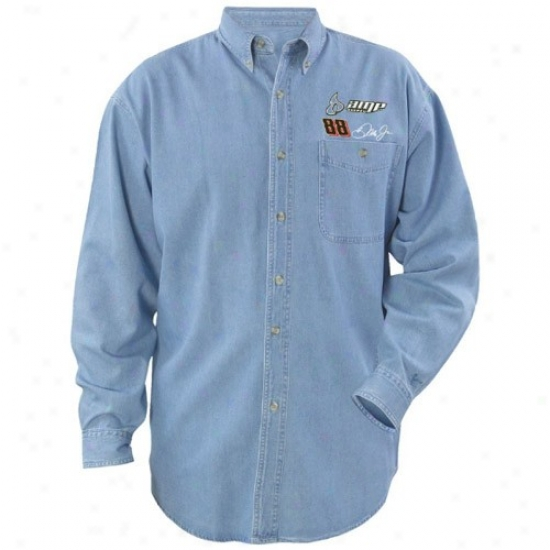 Dale Earnhardt Jr. Tee : #88 Dale Earnhardt Jr. Beyond Victory Denim Long Sleeve Tee