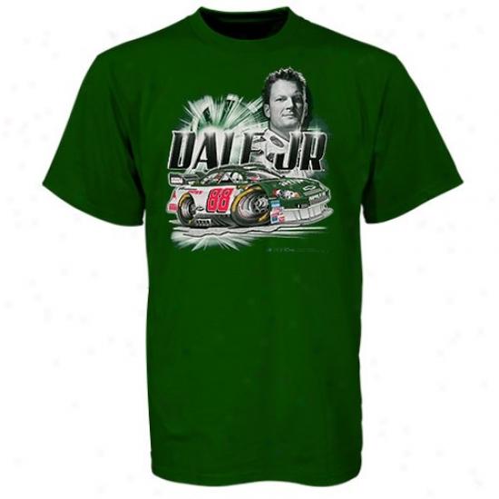 Dale Earnhardt Jr. Tee : #88 Dale Earnhardt Jr. Green Youth Driver Ter
