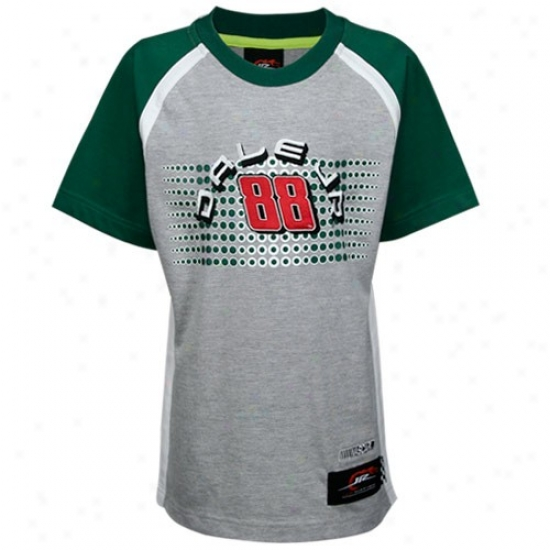 Dale Earnhardt Jr. Tee : #88 Vale Earnhardt Jr. Youth Ash Speedway Tee