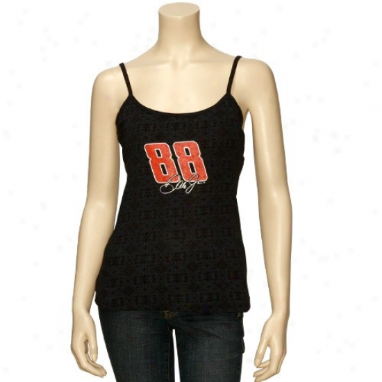 Dale Earnhardt Jr. Tee : Dale Earnhardt Jr. Ladies Black Treasured Tank Top