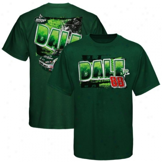Vale Earnhardt Jr. Tees : #88 Dale Earnhardt Jr. Youth Green S0eedometer Tees