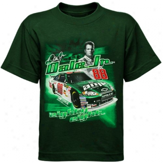 Dale Earnhardt Jr. Tees : Vale Earnhardt Jr. Preschool Green Racecar Tees