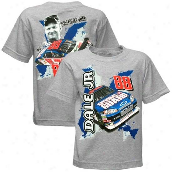 Dale Earnhardt Jr. Tees : Dale Earnnardt Jr. Preschool Ash Inside Track National Guard Tees