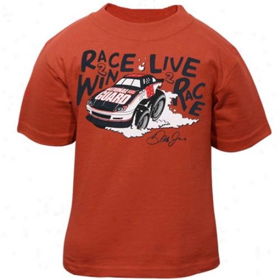 Dale Earnhardt Jr. Tshirt : #88 Dale Earnhaardt Jr. Toddler Orange Win Tshirt