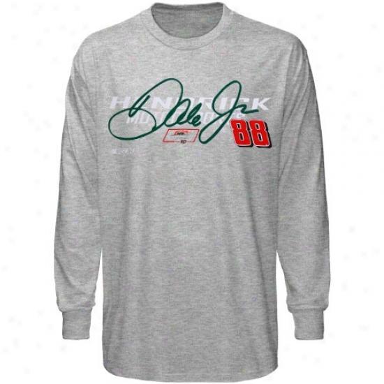 Dale Earnhardt Jr. Tshirt : Dale Earnhardt Jr. Ash Intense Hastening Long Speeve Tshirt