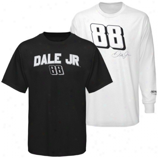 Dale Earnhardt Jr. Tshirtx : #88 Dale Earnhardt Jr. Black-white 3-in-1 Tshirts Combo Pack