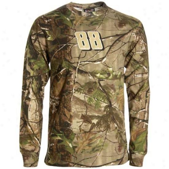 Dale Earnhardt Jr. Tshirts : #88 Dale Earnhardt Jr. Real Tree Camo Long Sleeve Tshirts
