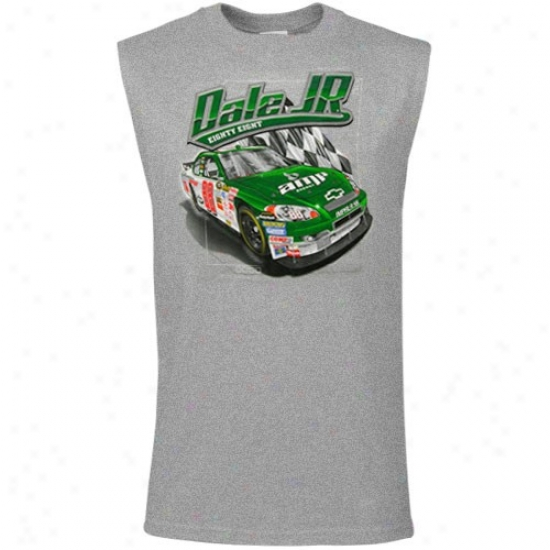 Dale Earnhardr Jr. Tshirts : Dale Earnhardt Jr. Ash Youth Graphic Muscle Sleeveless Tshirts