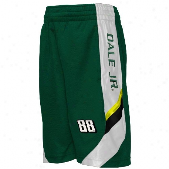 Dale Earnhardt Jr. Youth Green Finish Line Mesh Shorts