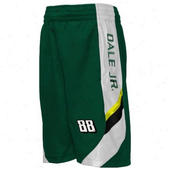 Dale Earnhardt Jr. Youth Green Finish Line Mesh Shorts