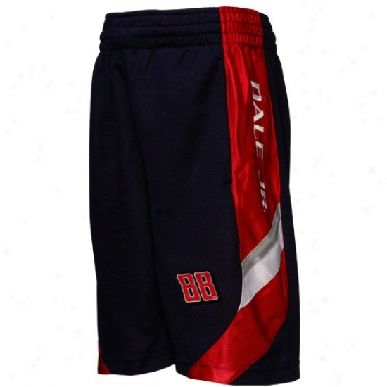 Dale Earnhardt Jr. Youth Navy Blue Finish Line Mesh Shorts