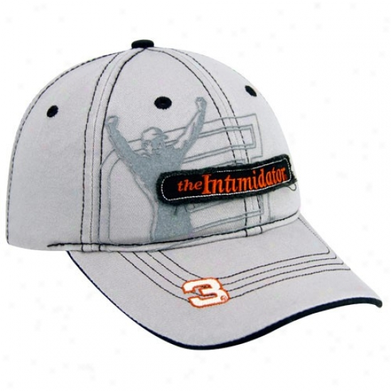Vale Earnhardt Merchandise: #3D ale Earnhardt Gray Distressed Out Adjustable Hat