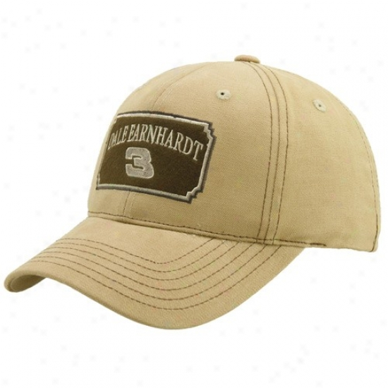 Dale Earnhardt Merchandise: Dale Earnhardt Light Brown Adjustable Hat