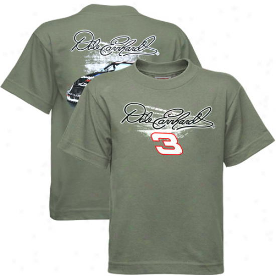 Dale Earnhardt T-shirt : #3 Dale Earnhardt Youth Gray Banking T-shirt