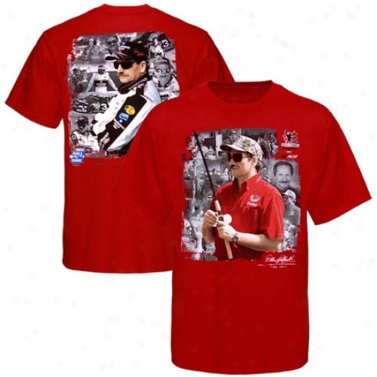 Dale Earnhardt T-shirt : Dale Earnhardt Red The Man/tue Fable T-shirt