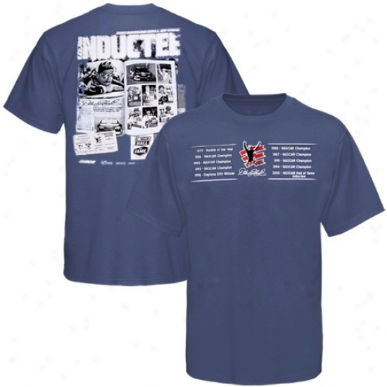 Dale Earnhardt Tee : Dale Earnhatdt Heather Blue 2010 Nascar Hall Of Fame Inductee Tee