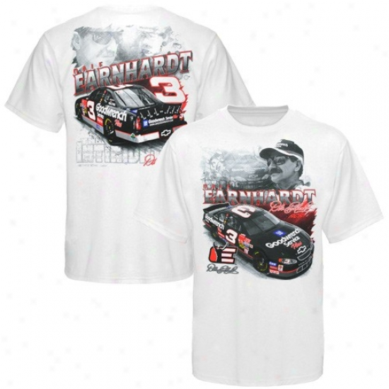Dale Earnhardt Tees : #3 Dale Earnhardt White Front And Back Teds