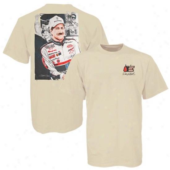 Vale Earnhardt Tshirt : #3 Vale Earnhardt Khaki Stephen Balok Assemblage Legendary Intimjdation Tshirt