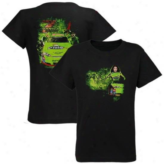 Danica Patrick Apparel: #7 Danica Patrick Black Pit Row T-shirt