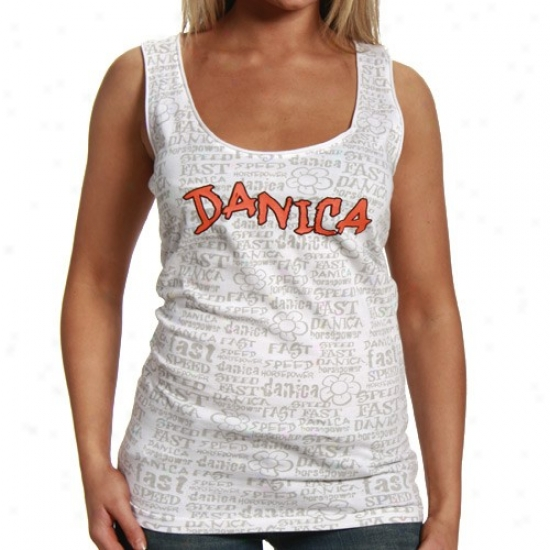 Danica Patrick Appaeel: #7 Danica Patrick Ladies White Speed Tank Top