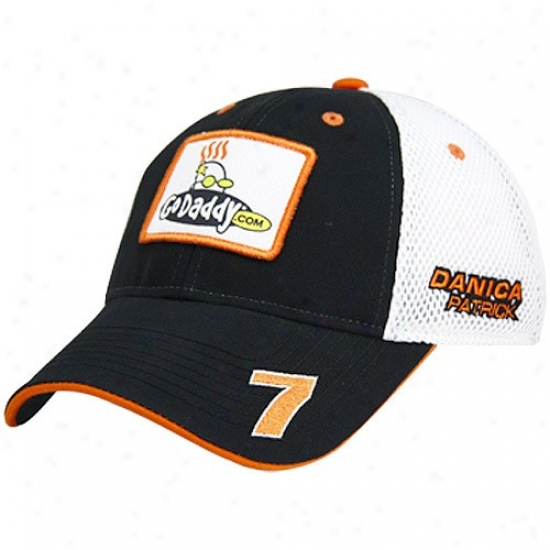 Danica Patrick Cap : #7 Danica Patrick Black Old Label Adjustable Mesh Cap