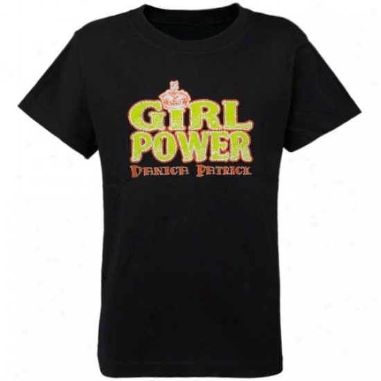 Danica Patrick Shirt : #7 Danica Patrick Youth Girls Negro Girl Power Shirt