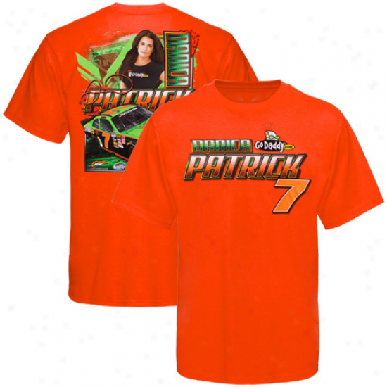 Danica Patrick Shirt : Danica Patrick Orange Draft Shirt