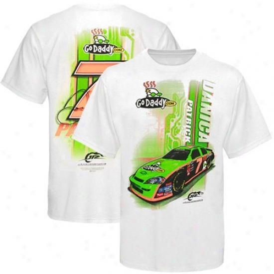 Danica Patrick Shirts : #7 Danica Patrick Whhite Big 7 Shirts