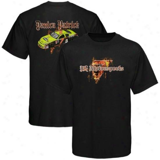 Danica Patrick T Shirt : #7 Danica Patrick Black Gothic T Shirt