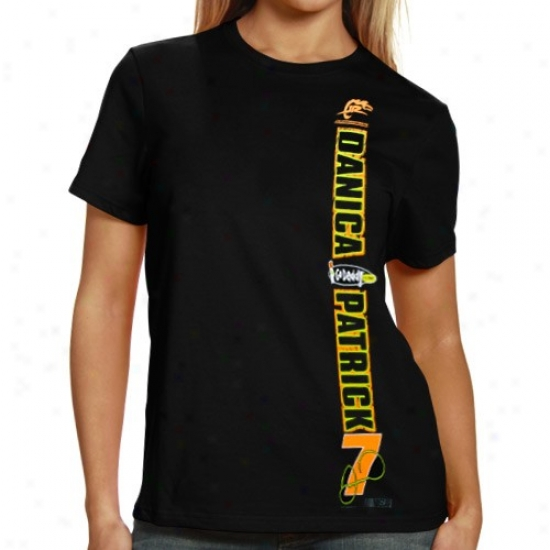 Danica Patrick T Shirt : #7 Danica Patrick Ladies Black Got The Setup T Shirt