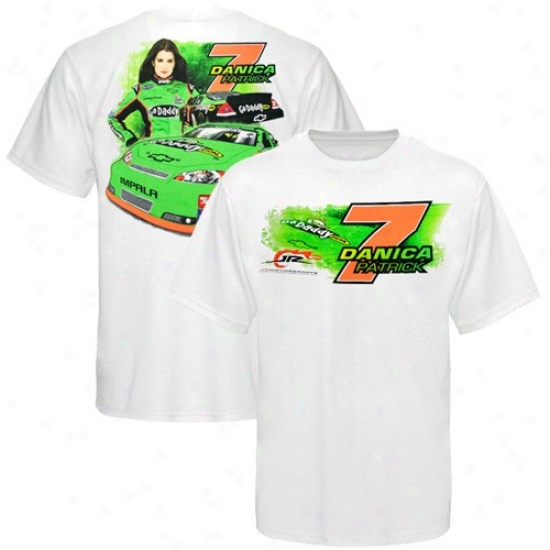 Danica Patrick Tees : #7 Danica Patrick White Front And Back Tees