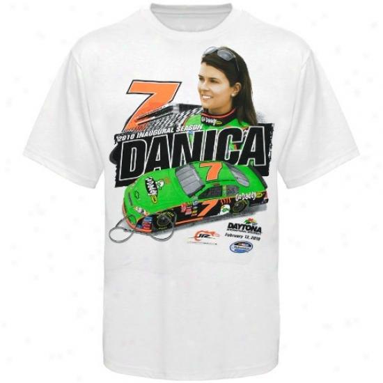 Danica Patrick Tees : #7 Danica Patrick White Denominate, Number & Ca rTees