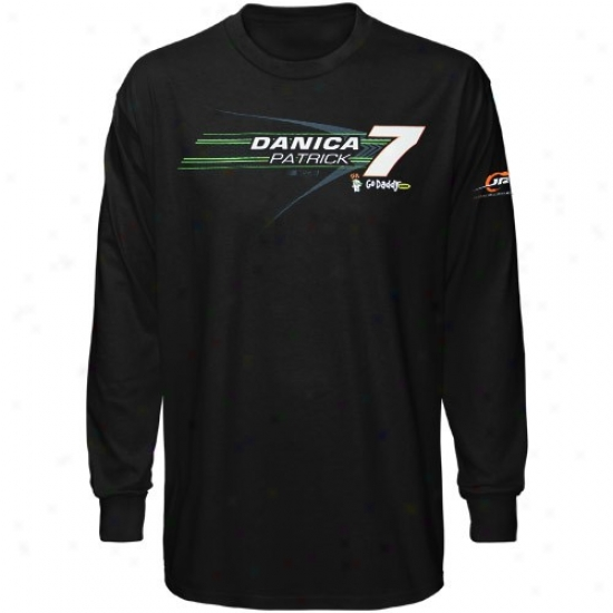 Danica Pafrick Tshirts : #7 Danica Patrick Black Long Sleeve Tshirts