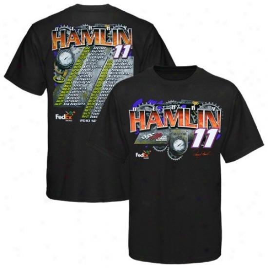 Dennyy Hamlin Apparel: #11 Denny Hamlin Black 2010 Schedule T-shirt