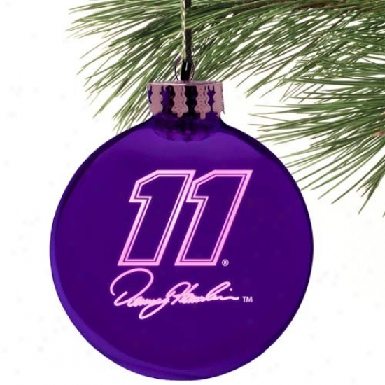 Denny Hamli nPurple Etched Laser Light Ornament