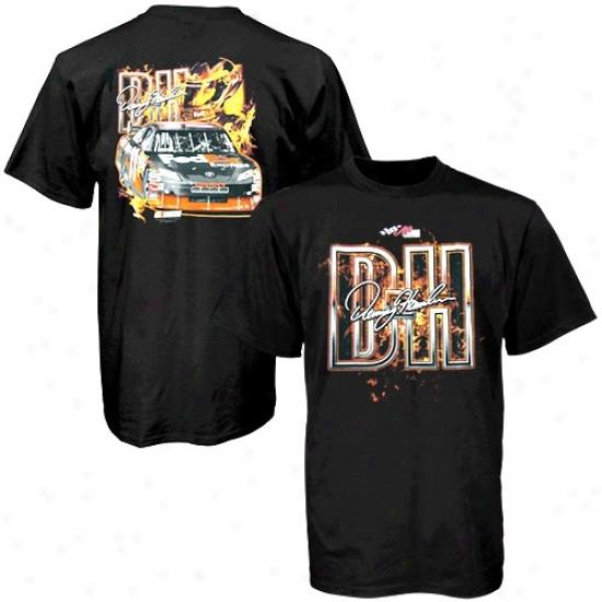 Denny Hamlin Shirts : Denny Hamlin Black Ultimate Experience Shirts
