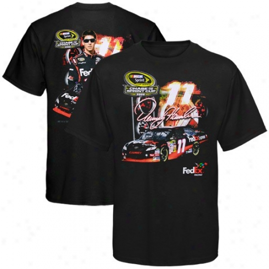 Denny Hamlin Tee : #11 Denny Hamlin Black Chase For The Nascar Sprint Cup Tee