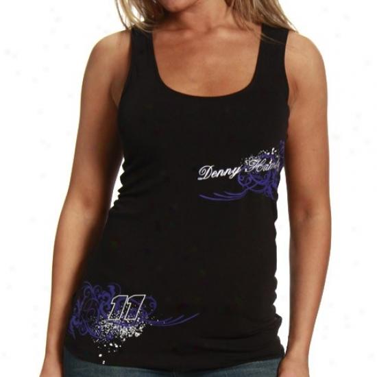Denny Hamlin Tshirts : #11 Denny Hamlin Ladies Black Vine Tank Chief