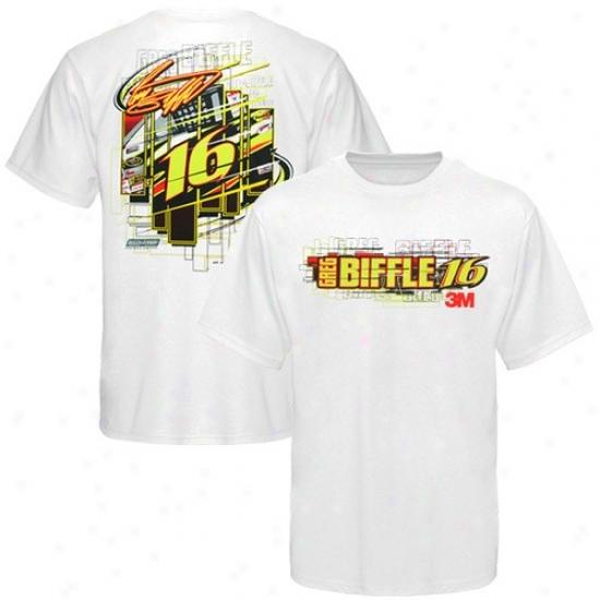 Greg Biffle Tee : #16 Greg Biffle White Driver Tee