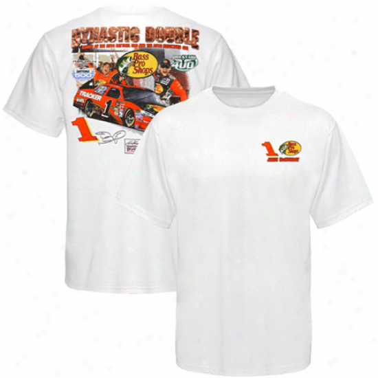Jamie Mcmurray T Shirt : 1# Jamie Mcmurray White 2010 Brickyard 400 Win T Shirt