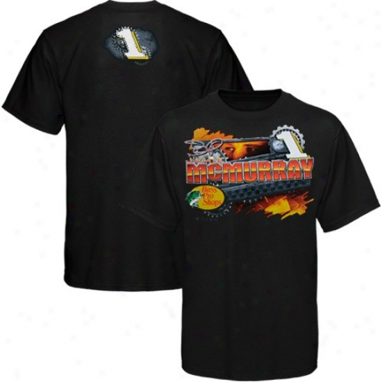 Jamie Mcmurray Tshirt : #1 Jamie Mcmurray Black Gears Tshirt