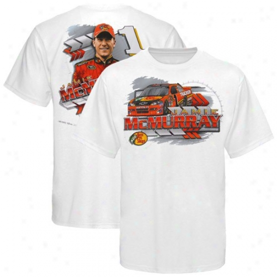 Jamie Mcmurray Tshirts : #1 Jamie Mcmurray White Drive Shaft Tshirts