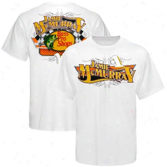 Jamie Mcmurray Tshirts : #1 Jamie Mcmurray White Bass Pro Shops Tshirts