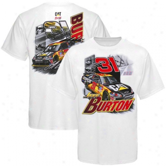 Jeff Burton Attire: #31 Jeff Burton White Race T-shirt