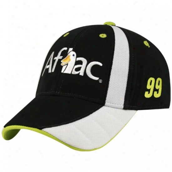 Jeff Burton Cap : #99 Carl Edwards Black Aflac Adjustable [i]Parquet Cap