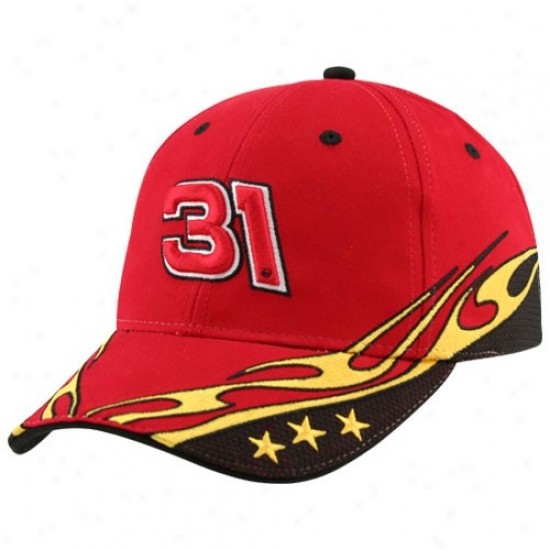 Jeff Burton Gear: #31 Jeff Burton Red Element Adjustable Hat